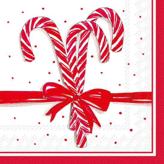 Candy Canes Luncheon Napkin by Boston International