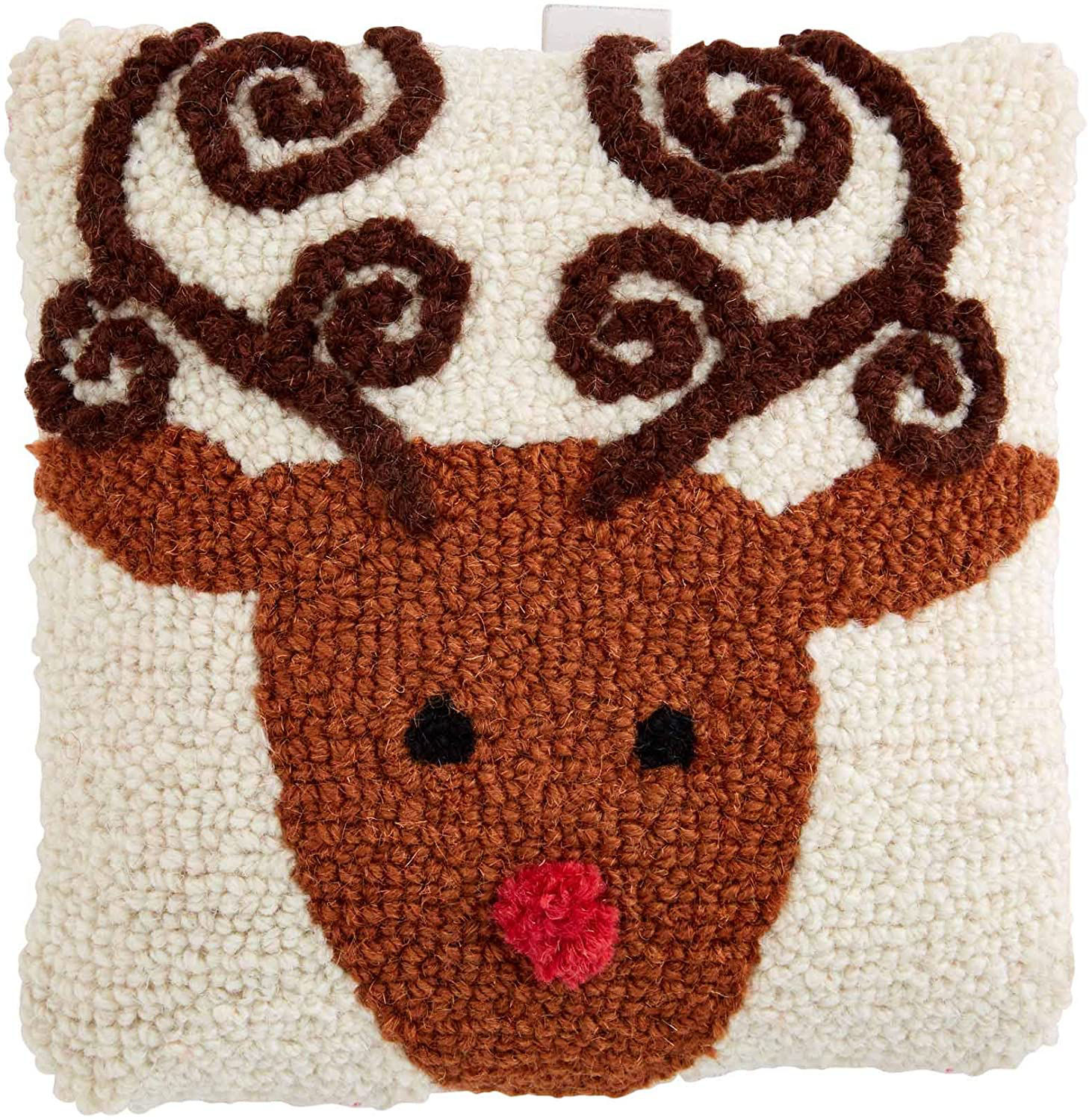 Mini Christmas Hooked Pillow (Assorted) by Mudpie