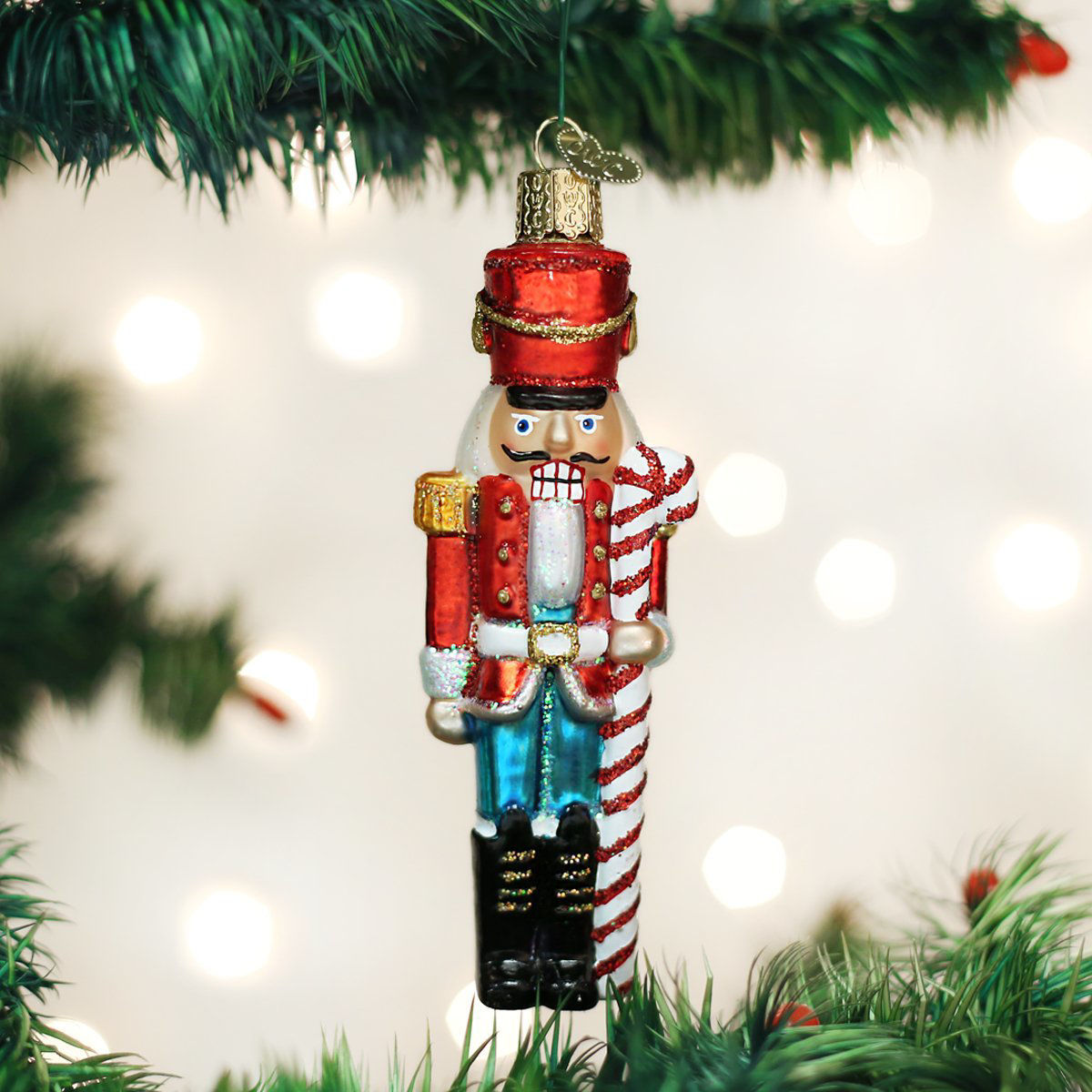 Peppermint Nutcracker Ornament by Old World Christmas