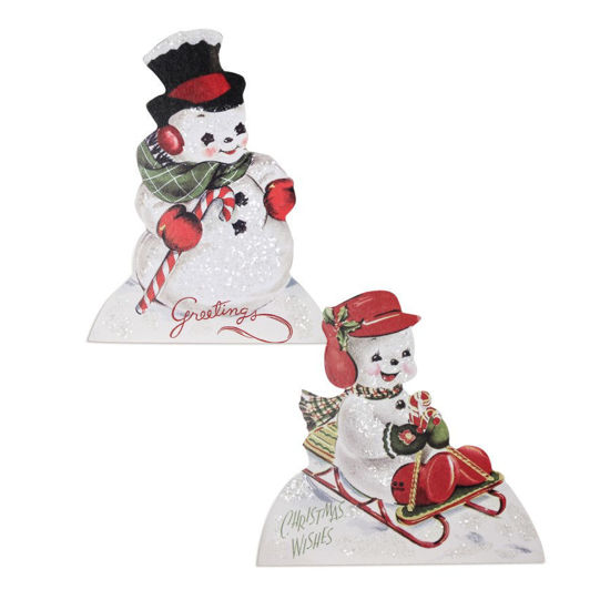 Playful Snowman Dummy Board 2/A by Bethany Lowe Designs