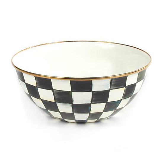 Courtly Check Enamel Everyday Bowl- Large by MacKenzie-Childs