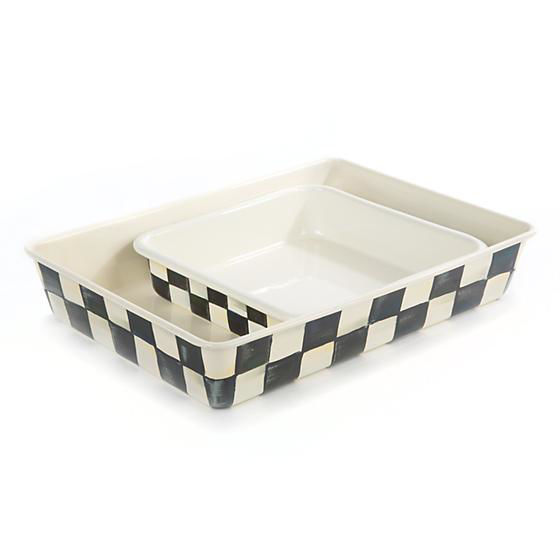 "Courtly Check Enamel Baking Pan - 9"" x 13"" by MacKenzie-Childs"