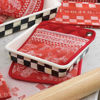 """Courtly Check Enamel Baking Pan- 8"""" by MacKenzie-Childs"""