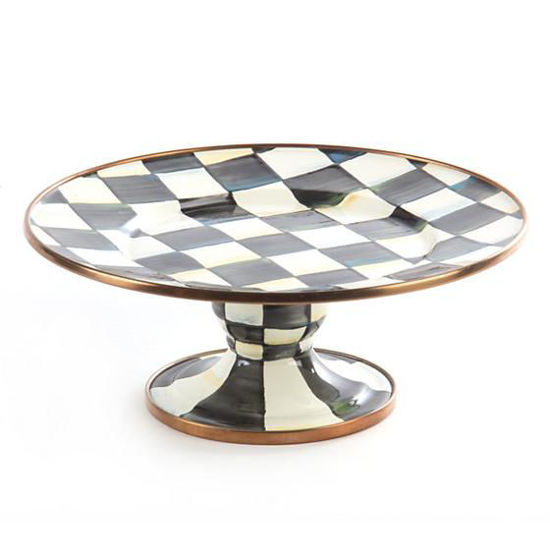 Courtly Check Enamel Pedestal Platter - Mini by MacKenzie-Childs