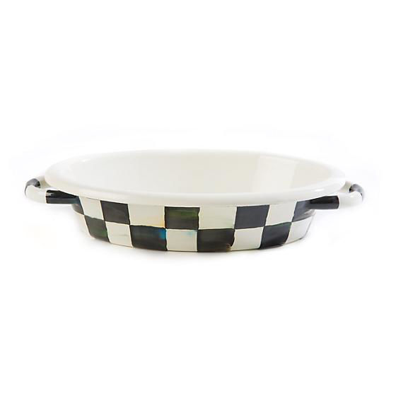 Courtly Check Enamel Oval Gratin Dish-Small by MacKenzie-Childs