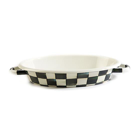 Courtly Check Enamel Oval Gratin Dish-Medium by MacKenzie-Childs