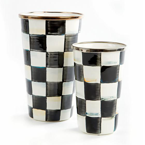 Courtly Check Enamel Tumbler-20 Ounce by MacKenzie-Childs