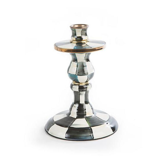 Courtly Check Enamel Candlestick - Small by MacKenzie-Childs