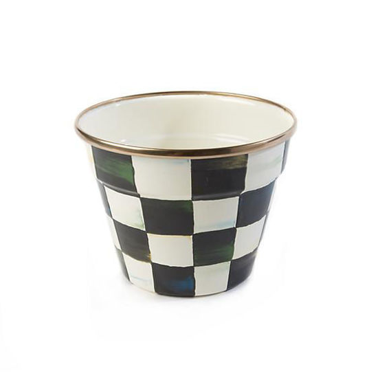 Courtly Check Enamel Garden Pot - Small by MacKenzie-Childs