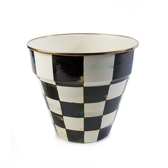 Courtly Check Enamel Garden Pot-Large by MacKenzie-Childs