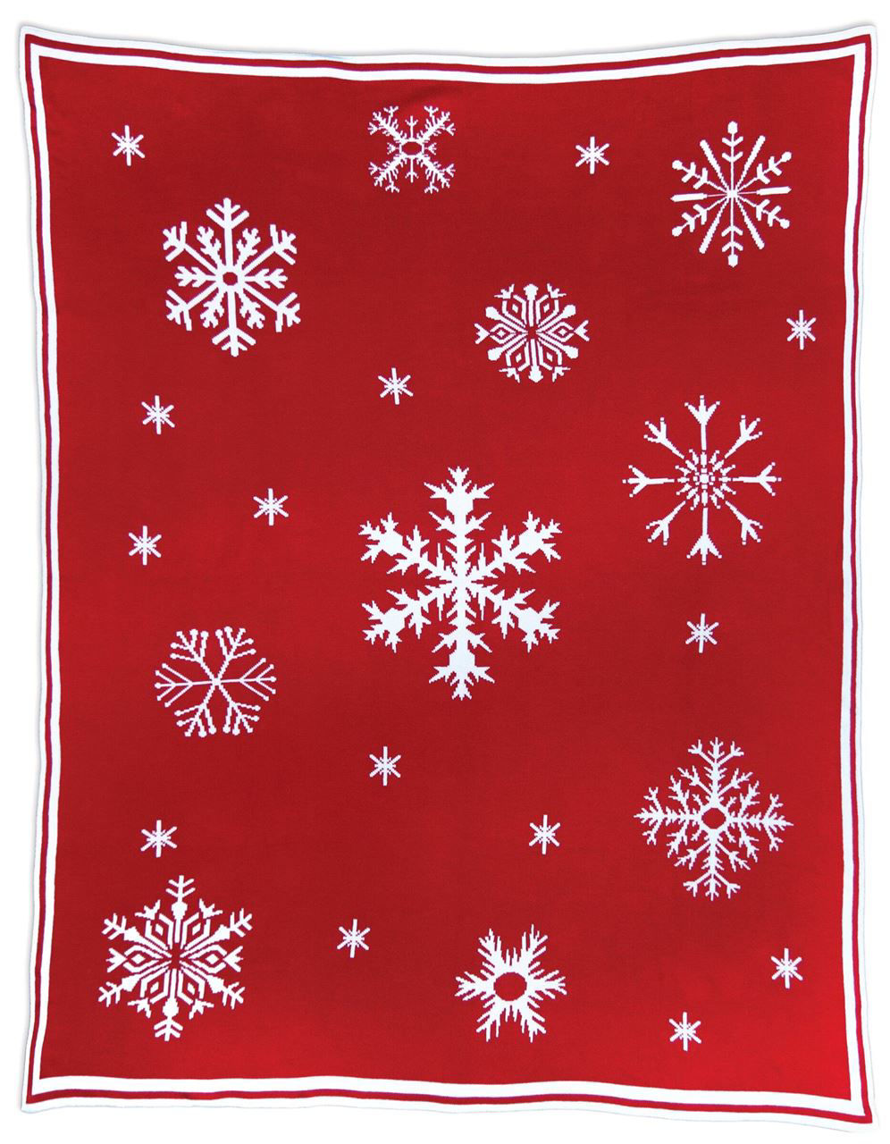 White Flakes Reversible Blanket by Chandler 4 Corners