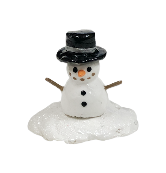TEST AUCTION 1 - Mini Snowman with Black Hat with Silver Band