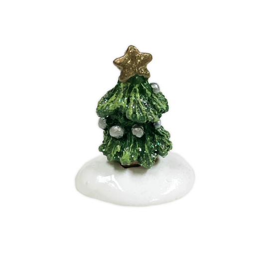 TEST AUCTION 2 - MINI Christmas tree with silver ornaments