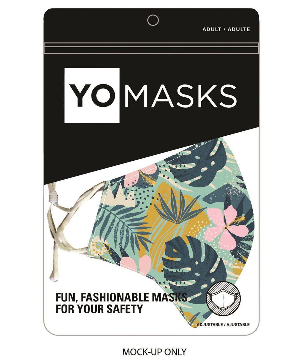 Reusable Unisex Adult Fabric Face Mask by Giftcraft