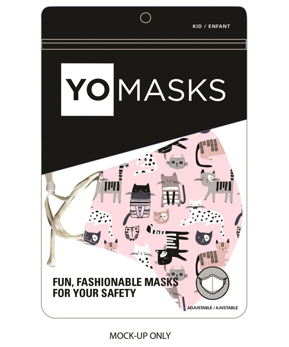 Reusable Kids Fabric Face Mask by Giftcraft
