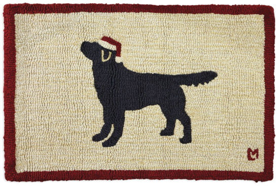 "Holiday Black Lab 20"" x 30"" Rug by Chandler 4 Corners"
