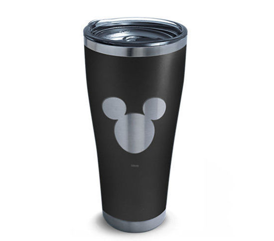Disney® - Mickey Silhouette Engraved on Black 30oz. Stainless Steel Tumbler by Tervis