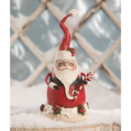 Fat Santa with Candy Cane by Bethany Lowe