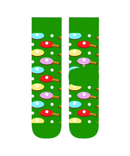 Ping Pong Men's Crew Socks by Yo Sox
