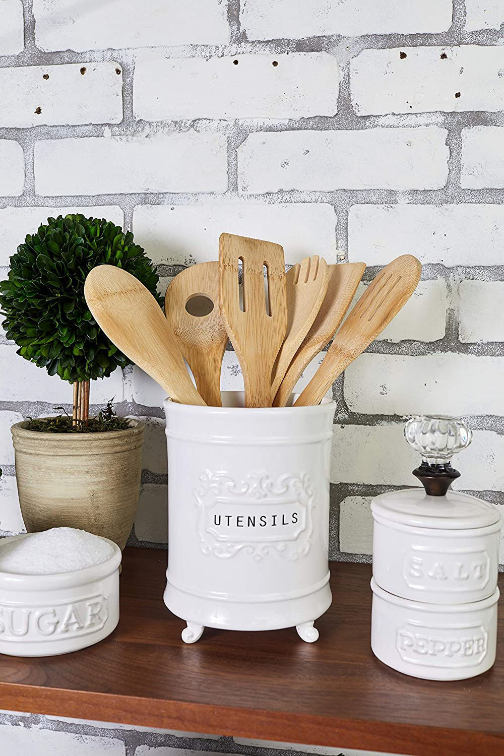 Circa Utensil Holder by Mudpie
