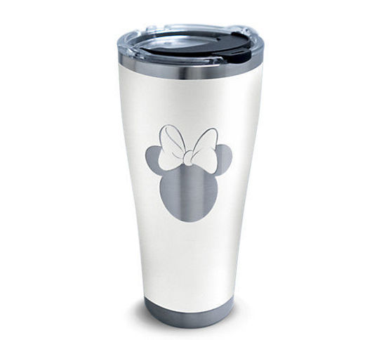 Disney® - Minnie Silhouette Engraved on Glacier White 30oz. Stainless Steel Tumbler by Tervis