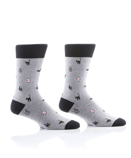 Mini Fright Men's Crew Socks by Yo Sox