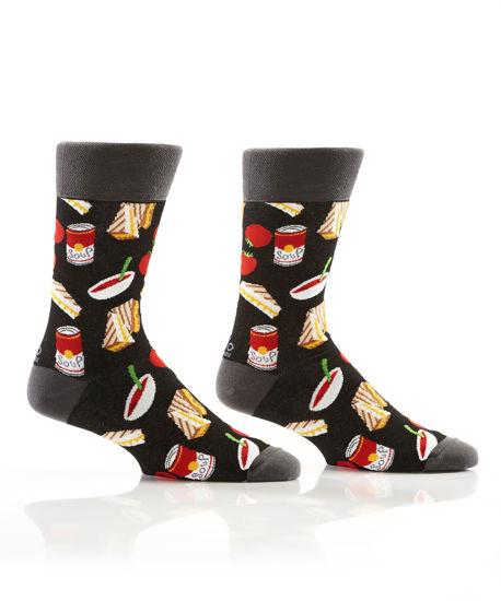 Comfort Food Men's Crew Socks by Yo Sox