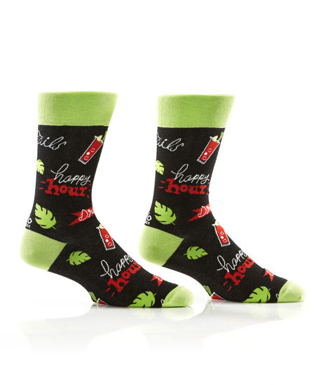 Happy Hour Men's Crew Socks by Yo Sox
