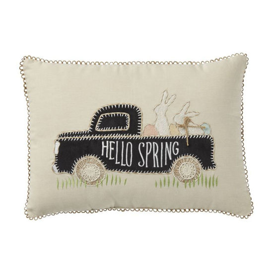 Bunny Truck Pillow by Mudpie