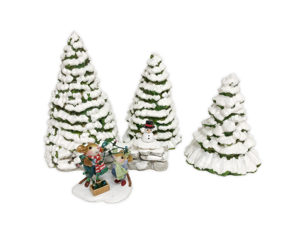 Snow Covered Evergreens (Set) by Habitat Hideaway