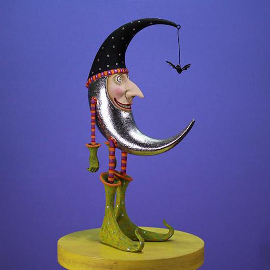 Bat Moon Figure by Patience Brewster