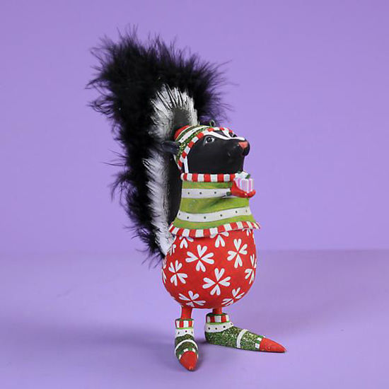 Snuffy Skunk Ornament by Patience Brewster