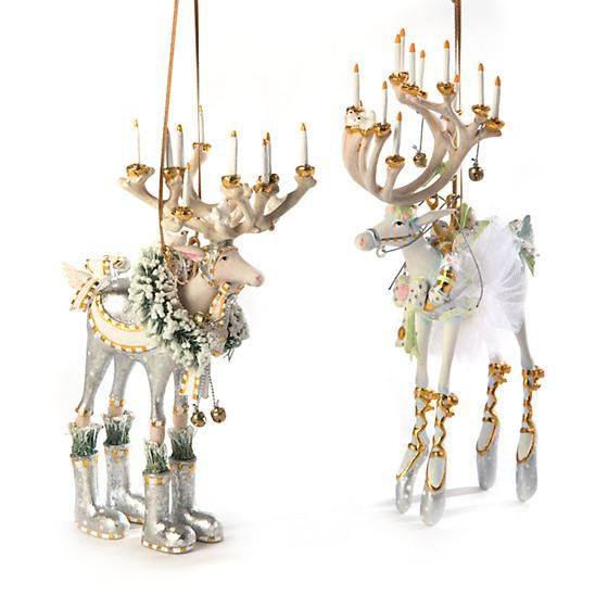Moonbeam Dasher Reindeer Ornament by Patience Brewster