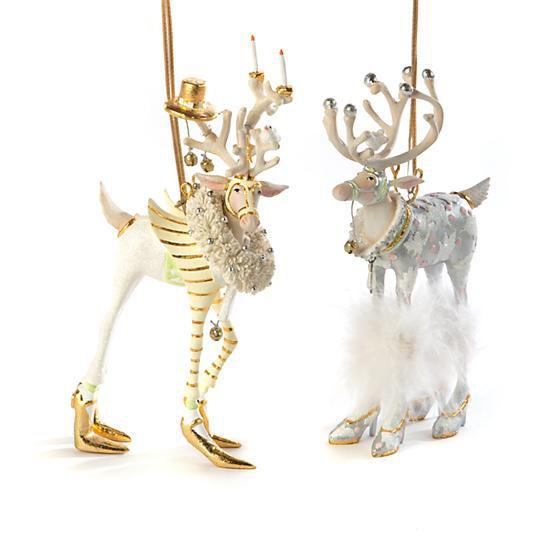 Moonbeam Prancer Reindeer Ornament by Patience Brewster
