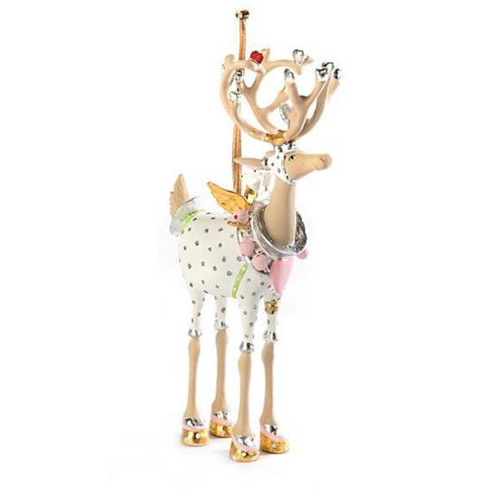Moonbeam Cupid Reindeer Ornament by Patience Brewster
