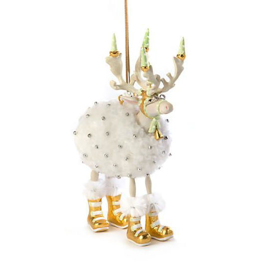 Moonbeam Blitzen Reindeer Ornament by Patience Brewster
