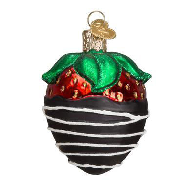 Chocolate Dipped Strawberry Ornament by Old World Christmas