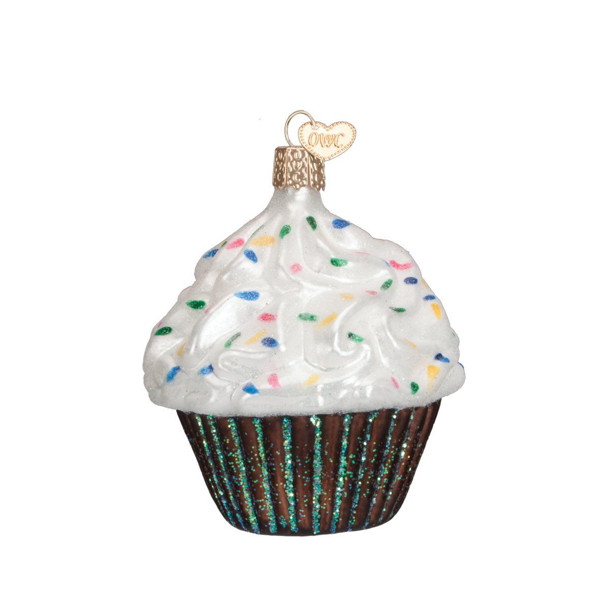 Chocolate Cupcake Ornament Set by Old World Christmas