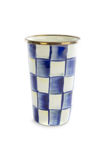 Royal Check Enamel Tumbler - 20 ounce by MacKenzie-Childs