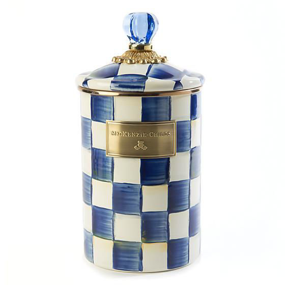 Royal Check Enamel Canister - Large by MacKenzie-Childs