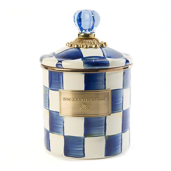 Royal Check Enamel Canister - Small by MacKenzie-Childs
