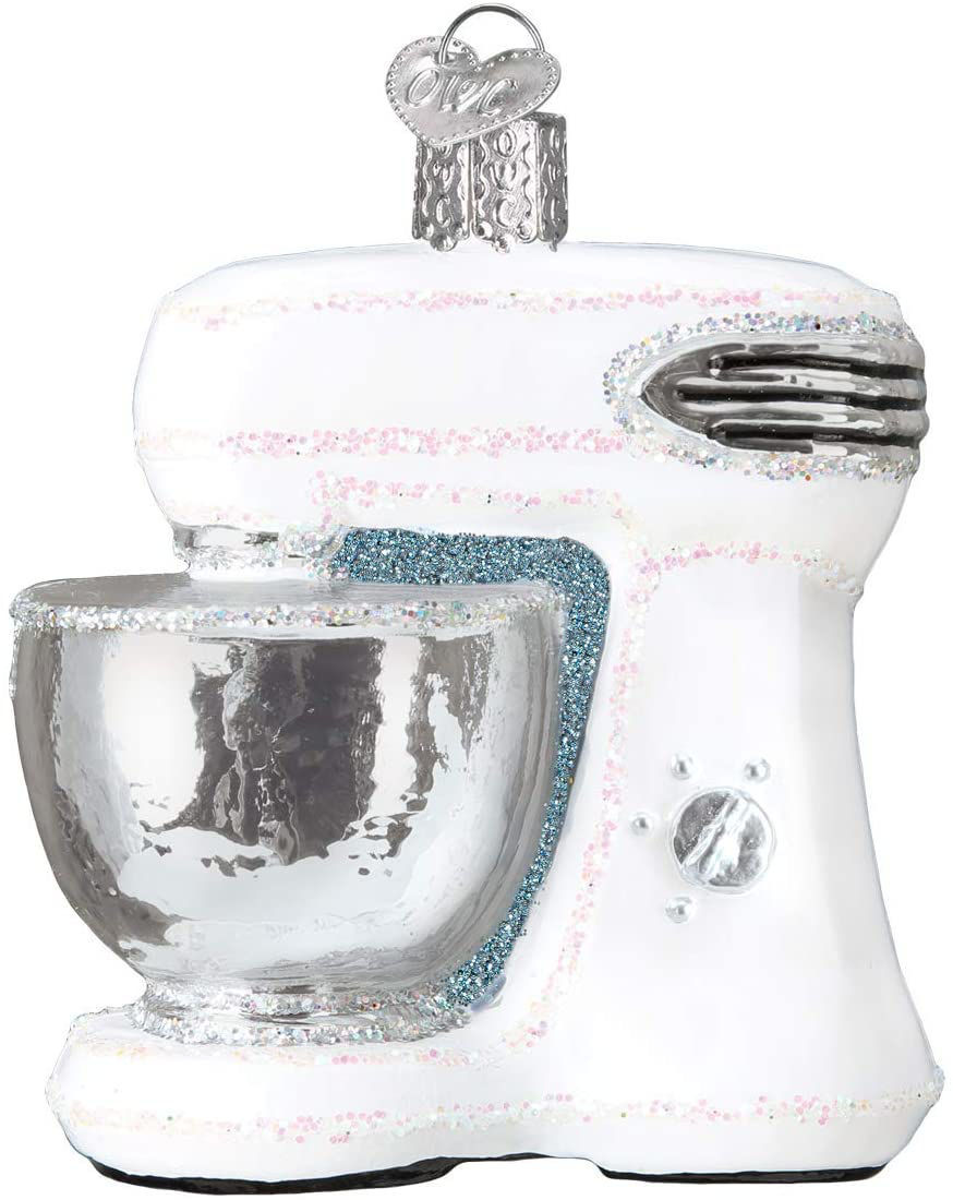 White Mixer Ornament by Old World Christmas