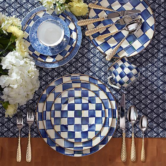 Royal Check Enamel Dinner Plate by MacKenzie-Childs