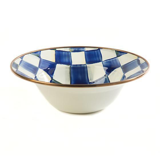 Royal Check Enamel Breakfast Bowl by MacKenzie-Childs