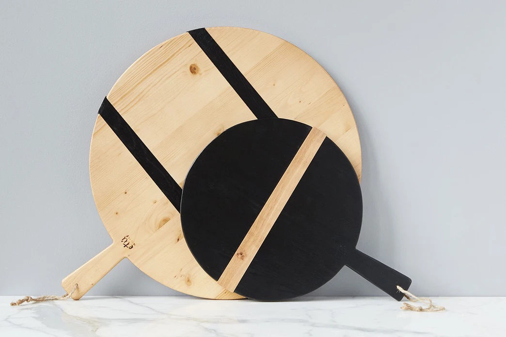 Black Round Mod Charcuterie Board, Small  by etúHOME