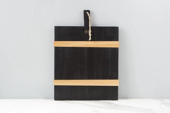 Black Rectangle Mod Charcuterie Board, Medium  by etúHOME