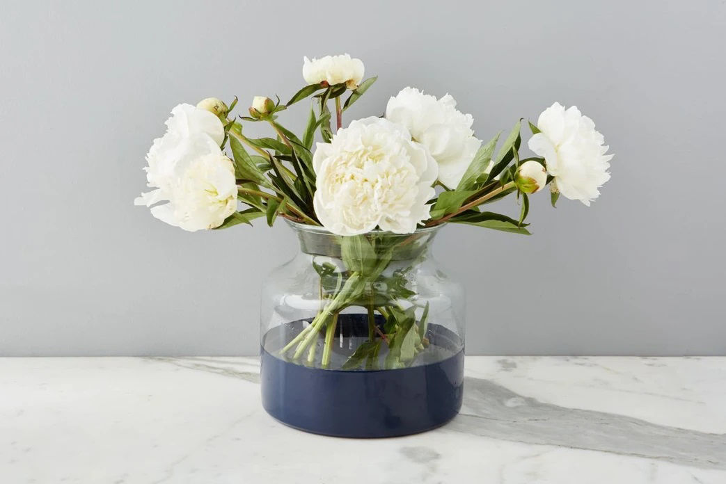 Navy Colorblock Flower Vase  by etúHOME
