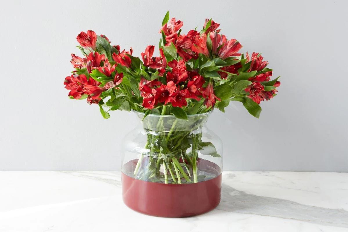 Merlot Colorblock Flower Vase  by etúHOME