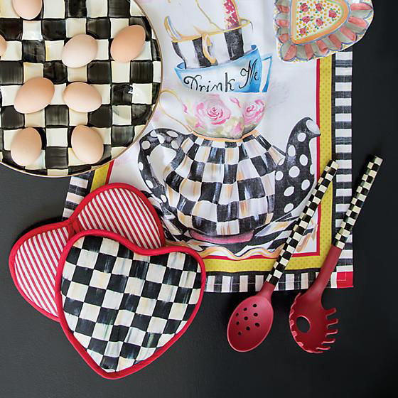 Courtly Check Pasta Spoon - Red by MacKenzie-Childs
