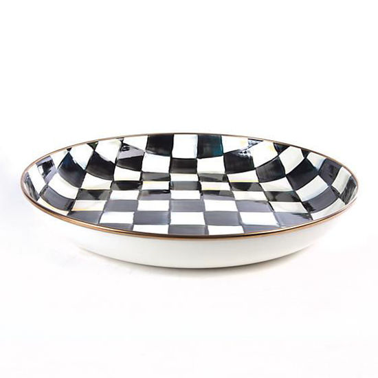 Courtly Check Enamel Abundant Bowl by MacKenzie-Childs